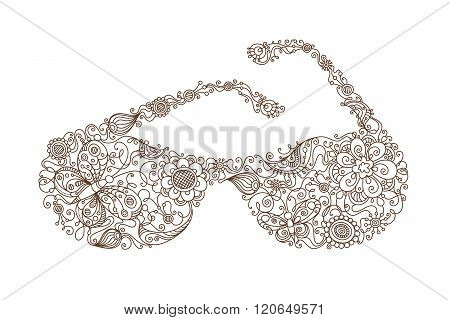 Floral Sunglasses.