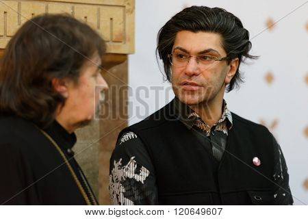 ST. PETERSBURG, RUSSIA - FEBRUARY 25, 2016: Russian ballet dancer and teacher Nikolay Tsiskaridze during the celebration of 140th anniversary of Art and Industry Academy named after A. von Stieglitz