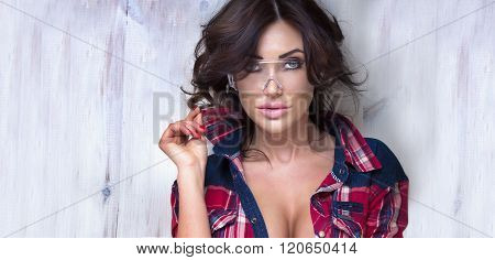 Portrait Of Sexy Girl.