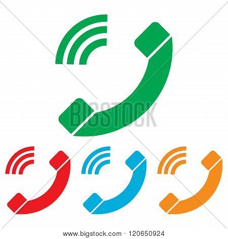 Phone sign. Colorfull set