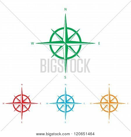 Wind rose sign