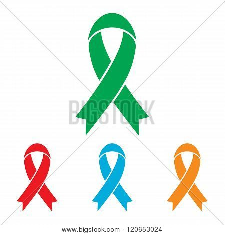 Black awareness ribbon sign
