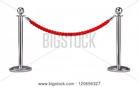 barrier rope isolated on white