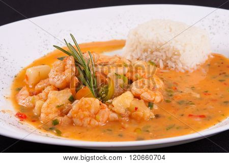 Shrimp With Vegetables Sauce