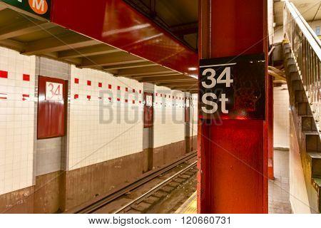 34Th Street Subway Station - Nyc