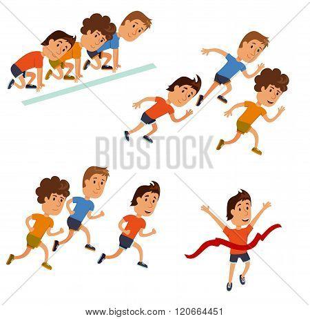 Runners cartoon character.