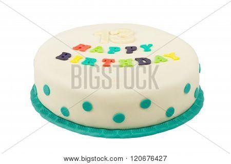 Birthday Cake With Text Happy Birthday