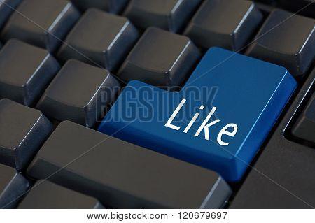Word 'like' On Enter Keyboard - Likeable Social Media Concept
