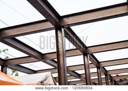 I-beam steel construction
