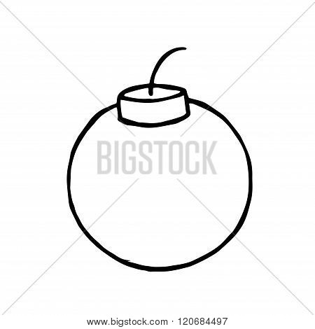 Bomb Doodle. Vector hand drawn object for design