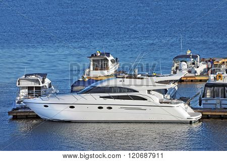 Motor Yacht In Jetty