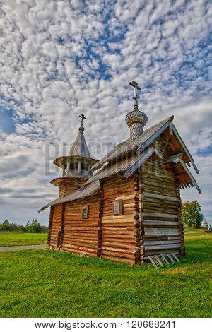 Wooden Church in Kizh Island of Karelia, Russia