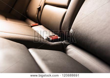 Car Interior Black Leather