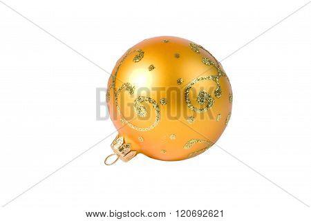 Bright yellow Christmas ball