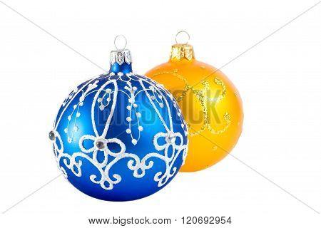 Two Christmas balls