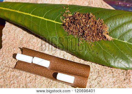 Tobacco For Smoking On The Sheet