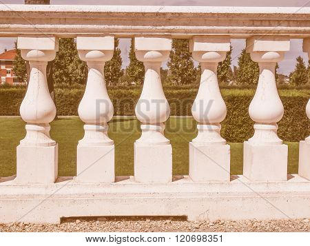 Baroque Balustrade Vintage