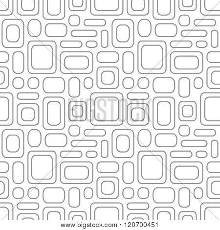 Seamless Vintage Pattern. Geometric Vector Textured Light Gray Background