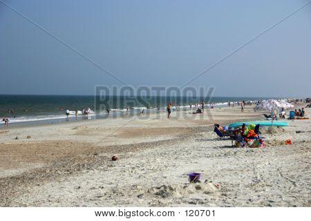 Beach Shot In Summer