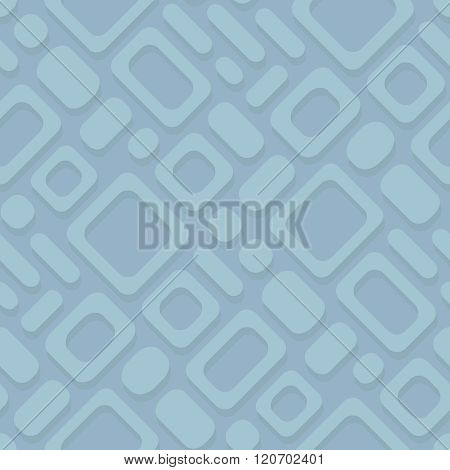 Abstract Simple Geometric Vector Diagonal Pattern - Rectangular Frames On A Blue Background