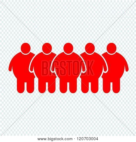 an images of Fat People Icon Illustration design