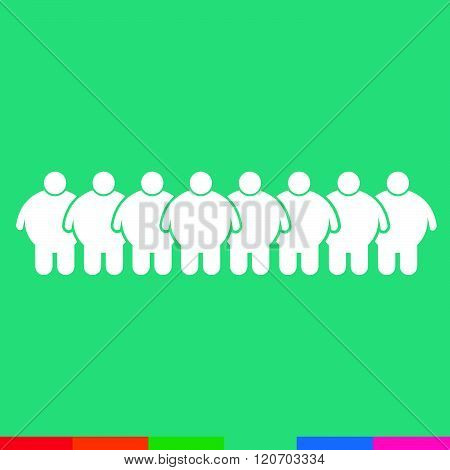 an images of Fat People Icon Illustration design green