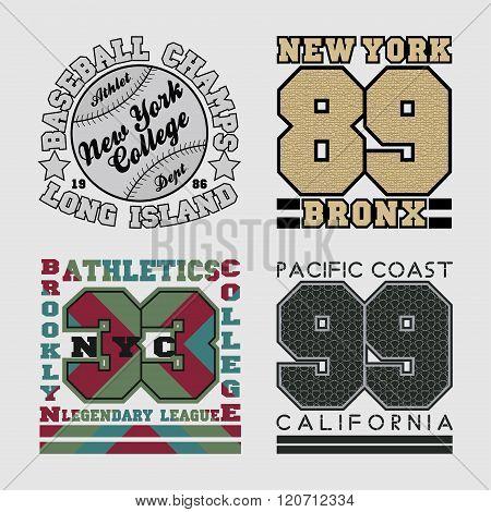 Set Typography T-shirts, Graphic Design, Printing