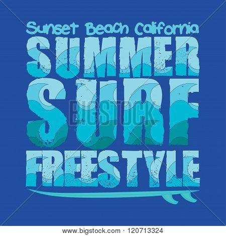 Summer Surfing, Typography