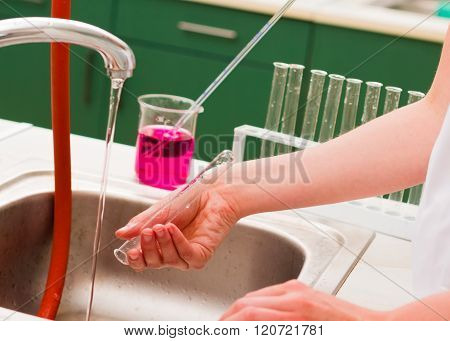 Washing Chemical Material