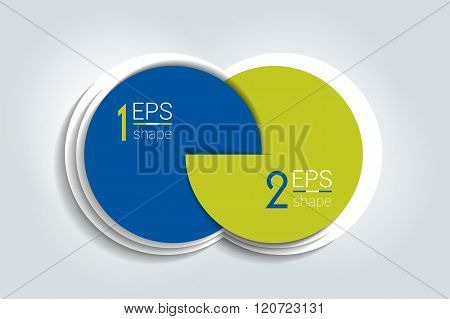 Two Business Elements Banner, Template. 2 Steps Design, Chart, Infographic