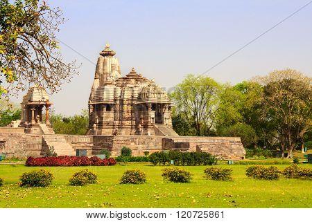 Ancient temple, Western Temples in Khajuraho, Madya Pradesh, India. UNESCO World Heritage Site