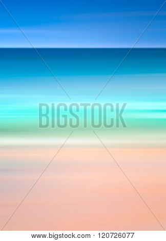 An abstract ocean seascape with blurred panning motion. Image displays a retro vintage look with cro