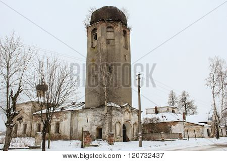 Novaya Ladoga, Russia - 23 February, Church Clement of Rome and Peter of Alexandria, 23 February 2016. Tourist places in the great ancient route from the Vikings to the Greeks.Church Clement of Rome and Peter of Alexandria. Gold ring of Russia.