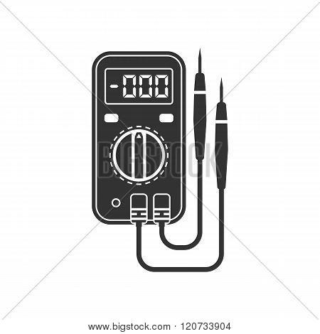 Digital Multimeter. Electrical Measuring Instrument: Voltage, Amperage, Ohmmeter, Power.