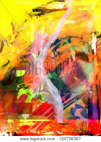 Nice Large scale Abstract Oil Painting On Canvas