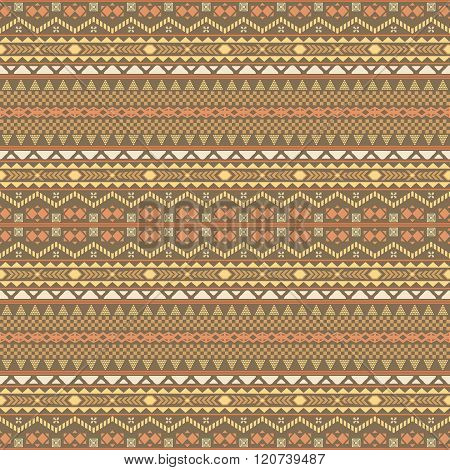 Seamless Multielement Pattern With Ethnic Motifs