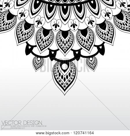vector flat black mandala layout ornament illustration