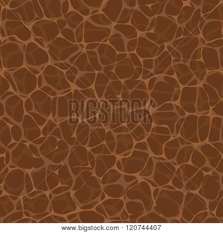 Vector Seamless Pattern - Bio Net. Brown Nature Square Texture