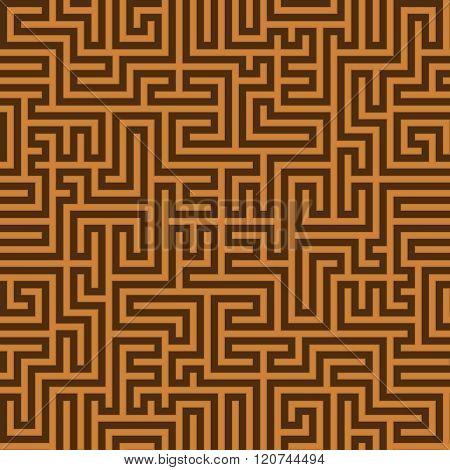 Seamless Vintage Brown Pattern. Ethnic Vector Textured Greek Background