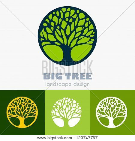 Abstract Tree Business Sign