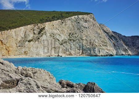 Amazing view of Porto Katsiki Beach, Lefkada, Greece