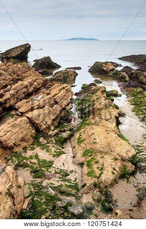 East Coast Of Irish Sea In Malahide, Ireland