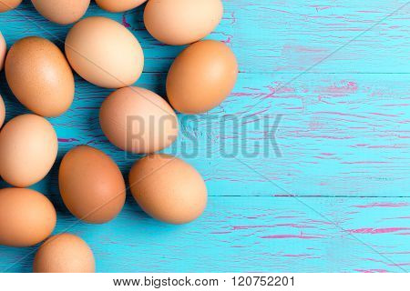 Fresh Healthy Brown Eggs For Breakfast