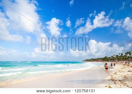 Coastal Caribbean Seascape. Atlantic Ocean Coast