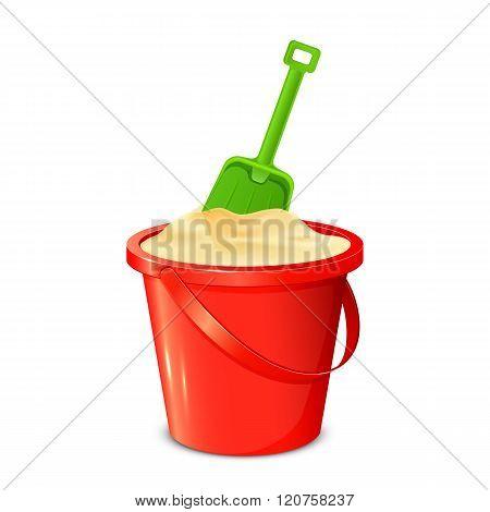 Bucket Shovel And Sand