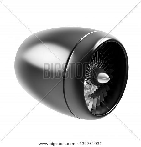 jet engine isolated on white background.