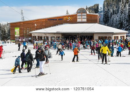 Ski Resort, Cable Car Lift Station, Bansko, Bulgaria