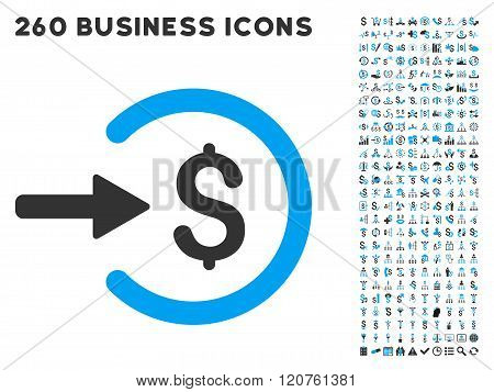 Income Icon with Flat Glyph Set