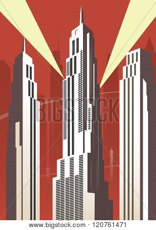 Vertical Cartoon City
