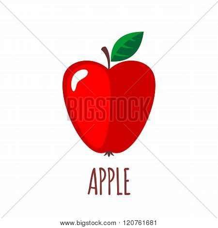 Apple icon in flat style on white background